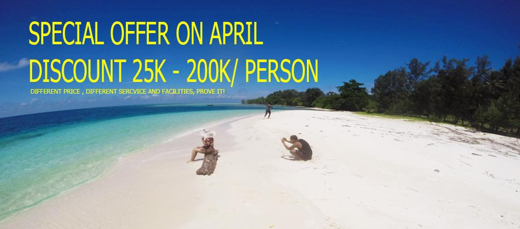 SPECIAL OFFER KARIMUNJAWA 25K-200K